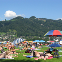 Trümmelbach falls and around lake Brienz